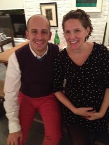 Seminar Dinner guest speakers:  NYC School Principals Abarno and Colavita