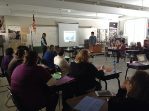 Science Fellows train elementary teachers in iMovie and other iPad technology.
