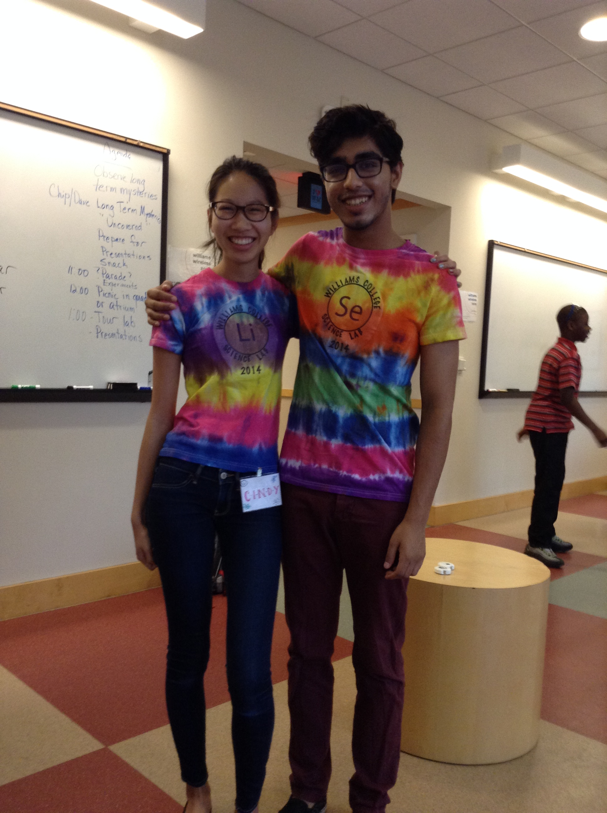Cindy and Dvivid worked at a science camp for kids for two weeks!