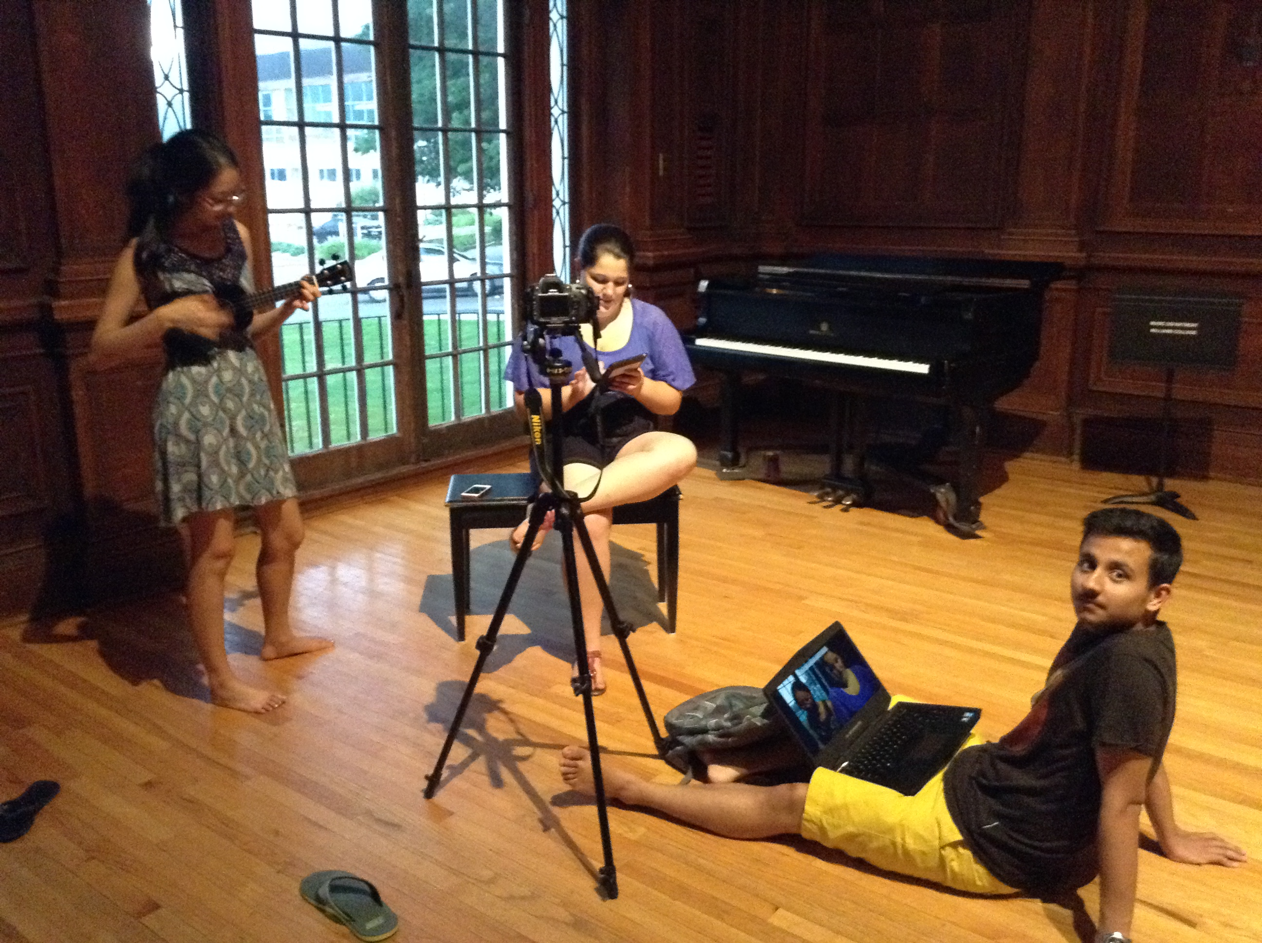 CLiA interns practice for recording a BRTA promotional video