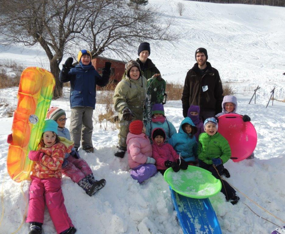 Photo 003 - Conrad Damstra '16 and Peter Drews '14 Winter Woodchucks - Discover nature in winter, build snow forts, bake in the outside oven!